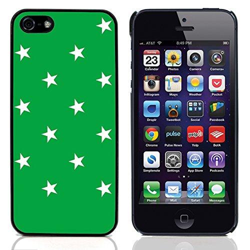 Graphic4You Sterne Muster Design Harte Hülle Case Tasche Schutzhülle für Apple iPhone 5 und 5S (Rot) Grün
