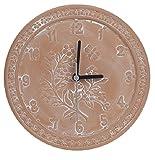 Vonline Terrakotta-Gartenuhr 25 cm für den Außenbereich, wetterfest, Geschenk