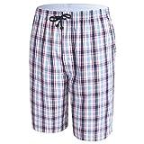 Honeystore Herren Sommer Strand Shorts Badeshorts Badehose Boardshorts mit Muster S18 L