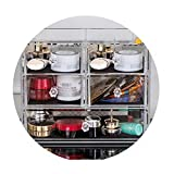 Boîte de rangement transparente pour tiroir, quatre types, capacité accrue, empilable 34.5 * 24.5 * 24cm (taille : B)