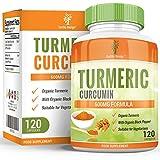Curcuma Curcumine 600mg - Curcuma Pur Biologique Avec Piperine - Convient aux Végétariens - Augmente la Biodisponibilité - Pour Hommes et Femmes - 120 Capsules (4 Mois d'Approvisionnement) de Earths Design