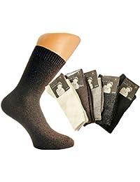 6 Paar hochwertige Angora-Damen-Socken mit Wolle farbig gemischt von Art-of-Baan