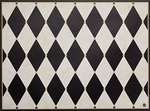 Di Potter CH113Paris Design wendbar Papier Tisch-Sets, Pergament und schwarz, 30,5cm X 16-1/10,2cm (24Stück) -