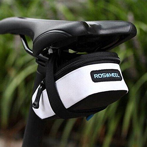 ROSWHEEL Fahrrad des Fahrrad-Sattel-Rôcksitz-Sattelstôtze Hecktasche Tasche Schwarz