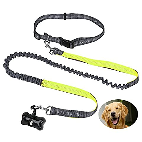 Hands Free Dog Leads, CoolFoxx Lightweight Elastic 5.2Ft to 6.3Ft