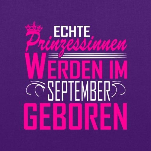 Spreadshirt Geburtstag Echte Prinzessinnen September Geboren Spruch Stoffbeutel Lila