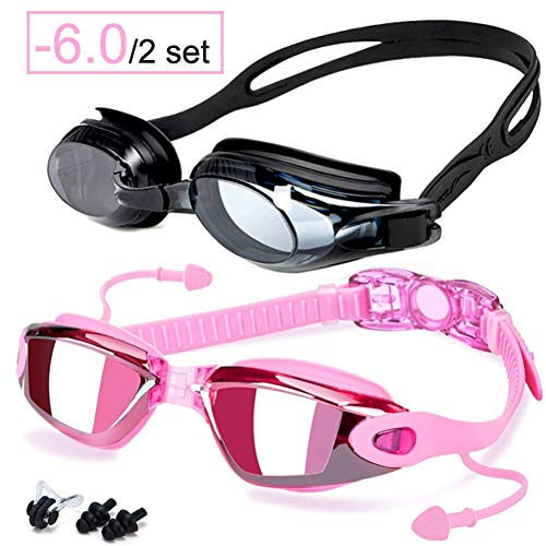 ZJHK Schwimmbrille Schwimmbrille Dioptrien Anti-Fog-Myopie Schwimmbrille Optisches Rezept Männer Frauen Prfessional Sports Swim Eyewear