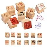 EQLEF® 15 PCS madera de la historieta de bricolaje Comentarios sello profesor fomentan un sello