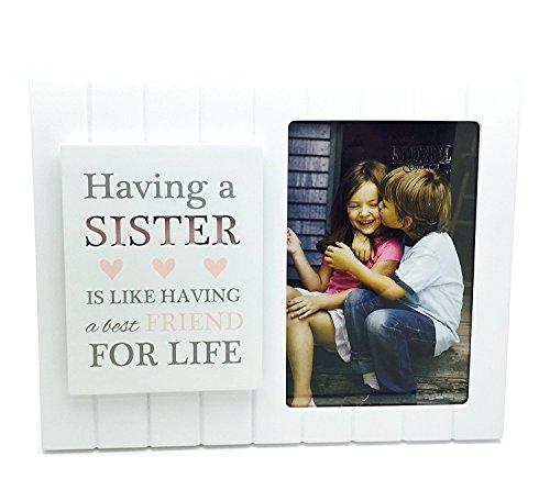 Vintage Madison Stil Schwester Foto Rahmen mit Plaque und Stimmung Geschenk (Schwestern Bilderrahmen)