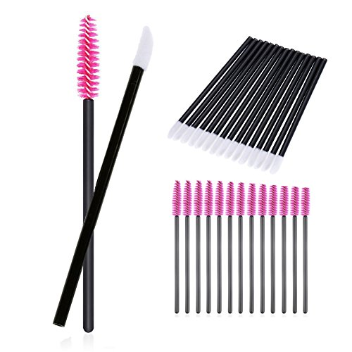 200 Stück/Set Einweg Augenbrauen Wimpern Mascara Pinsel Lip Pinsel Make-up-Pinsel Tester Tool Kit Kosmetik Applikator Mascara Stäbe Applikator Tool Make-up Beauty Tool Kits (Kit Make-up-tools)