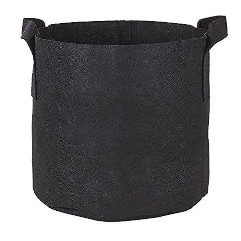 MORESAVE 4Pcs Pack Gallon Fabric Grow Bags 1/2/3/5/7/10/15/20 Gallon (5 Borse Gallon Bag)