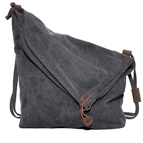 Canvas Tasche,COOFIT Damen Umhängetasch Canvas Umhängetasch Schultertasche Schultertasche Messenger Bag