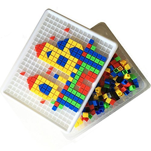 Itian 420 Pieces Mosaic Puzzle Intellect Toy Pegboard Jigsaw Puzzle Block Building Game for Kids Kindergarten Educational Toys for kid over 3 years old Test
