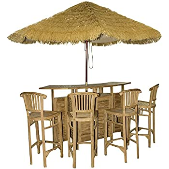 Amazon.de: 4tlg. Bar RIVAS + Bambus Theke Tresen Barhocker