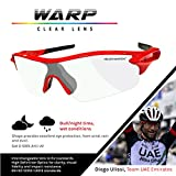 VeloChampion Warp Cycling Sunglasses Running Shooting Sports Glasses (Red) Bild 3