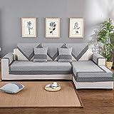 Housse de canapé 2/3/4 Places Housse de Protection antidérapante en Coton et Lin Canapé Housse pour Animaux Domestique Amovible 1 Pièce Multi Taille,02,90 * 160CM