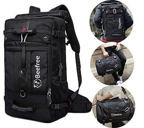 Beefree 50 liter 3-in-1 anti diebstahl rucksack outdoor wanderrucksäcke multifunktional wasserdicht...