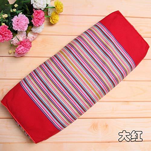 Altes grobes Baumwolltuch aus reiner Buchweizenschale mit abnehmbarem Waschkissenbezug Erwachsene Schlaf Retro quadratisches Kissen rot rot 50x20x10cm