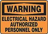 Electrical Hazard Authorized Personnel Only Panneau en polycarbonate 10 x 14 0,060
