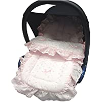 Broderie Anglaise coche asiento saco/Cosy Toes Compatible con Mamas y Papas, color rosa