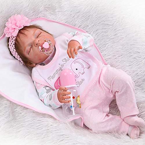 ZIYIUI 22inch 57CM Reborn bebé Realista muñeca niños Cuerpo Completo Vinilo Suave Silicona Rel Reborn Baby Doll pequeños Magnetismo Juguetes Girl Recien Nacidos