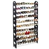 Costway Schuhregal mit Griffen Schuhständer Schuhschrank Schuhablage Ablagegestell stapelbar, erweiterbar bis zu 10 Ablagen 50 Paar Metall
