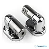 Roca Nexo Replacement Soft Close WC Toilet Seat Hinge Set Chrome Hinges (model A)
