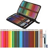 56 PCS Crayons aquarellables, Ensemble de 48 crayons de couleur aquarelle avec 3 crayons 2B et des petites accessoires, Crayon aquarelle parfaits pour mélanger les couleurs et les superposer