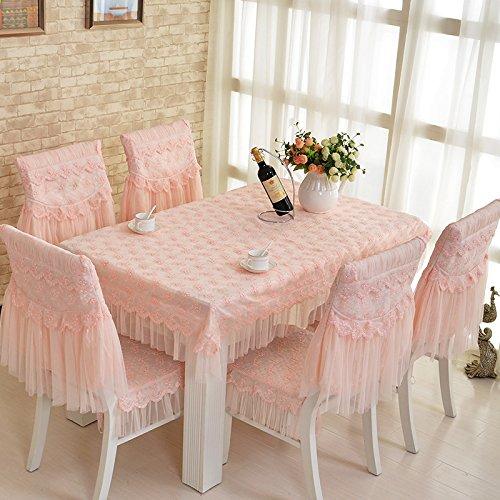 Bar-stuhl-seat-kissen (lkklily-tableclothfabric Tisch Tischdecke Esszimmerstuhl Set Tisch und Stühle Set Spitze Stuhl Pad, puder, A seat)