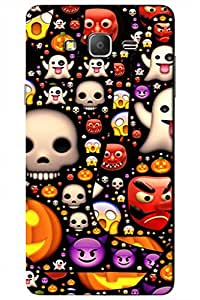 AMAN Clip Image Pattern 3D Back Cover for Samsung Galaxy On5 Pro