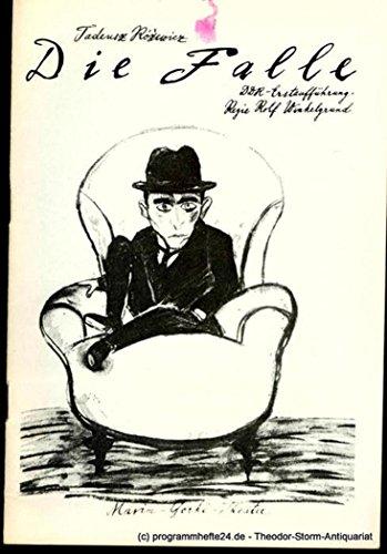 Programmheft DIE FALLE von Tadeusz Rozewicz. Spielzeit 1985 / 86 Heft 1 (Die Kostüme Fallen)