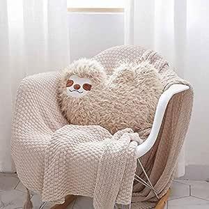 Idea Regalo per Bambini Cuscino a Forma di Bradipo di Peluche diirm Decorazione per la casa e Il Divano Grigio