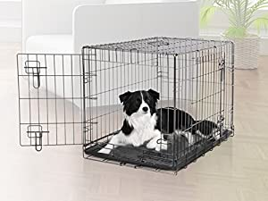 Dogit 2 Door Black Wire Home Dog Crate