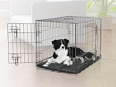 Dogit 2 Door Black Wire Home Dog Crate from Hagen