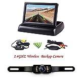 Podofo® 4.3' faltbarer drahtloser Auto-TFT LCD-Spiegel-Monitor mit wasserdichter Nachtsicht-Parken-Rückfahrkamera-Installationssatz