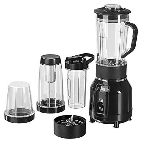 GOURMETmaxx 00772 Nutrition Mixer Pro | mit Heizfunktion |inkl. Rezeptheft & To-Go Becher | Ideal für Suppen & Smoothies | 12 teiliges Set | 8 Funktionen | 700 Watt |