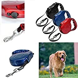 Retractable Dog Leash,automatic 5m Pet Dog Cord One-handed Lock Retractable Extending Dog Leash Pet Walking Leash Lead