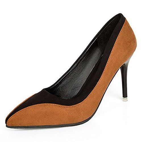 Dimaol Femmes Chaussures Pu Printemps Automne Talons Confort Stiletto Talon Couleur Extérieure Vert Noir Marron Brun