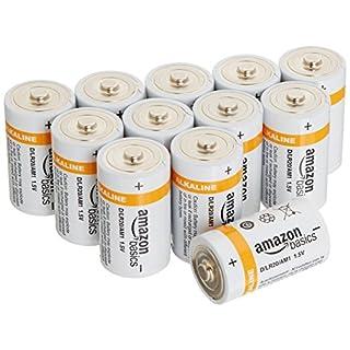 AmazonBasics Batterien Alkali, Typ D, 12Stück