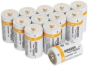 AmazonBasics - Pile Alcaline D, confezione da 12