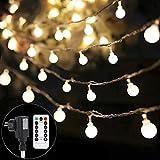 BearMoo LED String Lichterkette für Weihnachtsbaum mit Fernbedienung