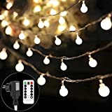 B-right 100 LEDs Globe Lichterkette, LED lichterkette warmweiß, Globe String Licht Sternenlicht mit Fernbedienung, Innen- und Außen Weihnachtsbeleuchtung für Weihnachten, Hochzeit, Weihnachtsbaum