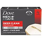 Dove Men+Care Body and Face Bar, Deep Clean 4 oz, 4 Bar by Dove