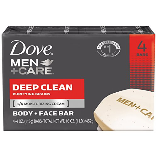 Dove Men Deep Clean Bar Soap - 4 pk.