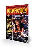 Pulp Fiction MW10497P Stampe su Legno 20 x 29,5 cm (Poster del Film), Multicolore, 5 x 1, 2 cm