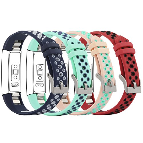 """Fit-power Fitbit Alta und Alta HR Armband, verstellbar, Ersatzsportarmband für Fitbit Alta und Alta HR Smartwatch Fitness-Armband, Shuangse4A, Free Size(5.5"""" - 8.1"""")"""