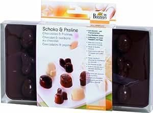 Birkmann 251670 Moule pour chocolats et pralines de Pâques, en silicone alimentaire, dans coffret cadeau avec recettes et mode d'emploi 21,5 x 10,5 cm