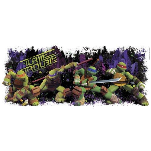 RoomMates Vinyl Kinderzimmer Teenage Mutant Ninja Turtle Trouble, Mehrfarbig