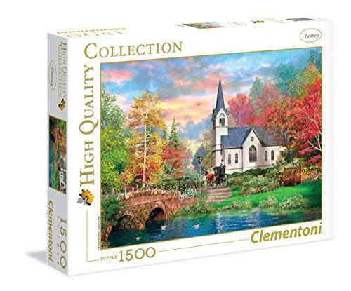 clementoni-31675-puzzle-ilustracion-white-church-1500-unidades-multicolor