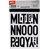 Apli 4450 - Pegatinas, letras, números, signos, 50 mm, color negro